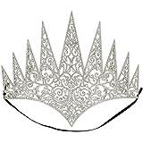 principessa di ghiaccio Boland 44087 Corona regina con elastico diadema principessa ghiacciata festa a tema Carnevale