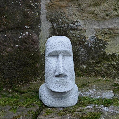 Moai Steinstatue Osterinsel Kopf Gesicht Dekorationselement aus Steinguss, frostfest