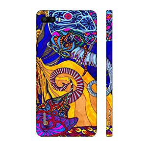 Enthopia Designer Hardshell Case Abstract Elephants Back Cover for Huawei Honor 6 Plus