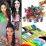 Creamily 14 colores mágicos cabellos trenzado trenzado decoración de pelo trenzado accesorios con cuentas de rastas