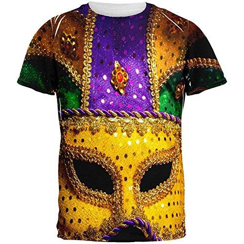 Große Maske Karneval aller Erwachsenen T-Shirt Multi
