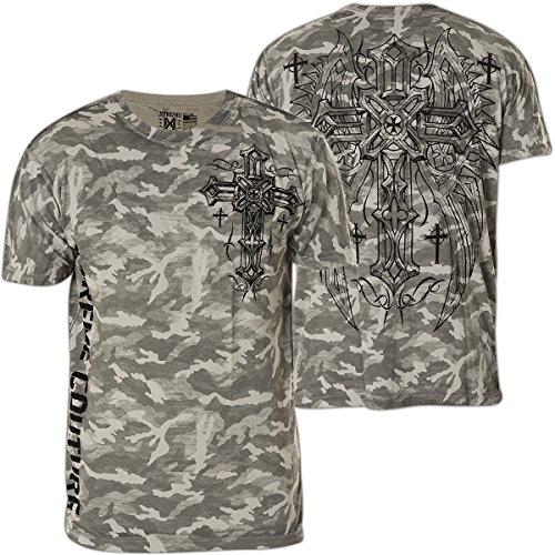 Xtreme Couture by Affliction T-Shirt Dark Flight Grau Grau