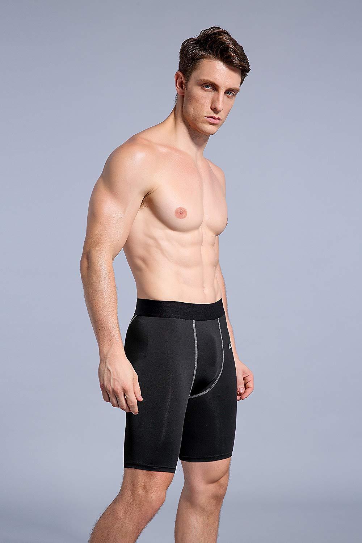 AMZSPORT Leggings Compression Short da Uomo Sport Baselayer Asciugatura Rapida Pantaloni