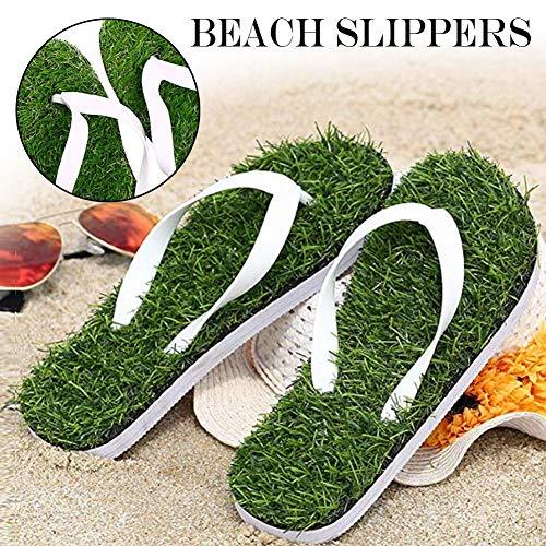 Hete-supply Anti-Rutsch-Flip-Flops, Sommer Strand Hausschuhe grün, lässig Kunstrasen Hausschuhe Sandalen, Flip-Flops für Frauen Männer Sanuk, Flache Ferse Massage Hausschuhe -