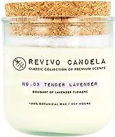 Große Duftkerze aus Sojawachs im Glas 250 g Lavendel Duft No. 03 Tender Lavender lange Brenndauer Revivo Candela Classic...