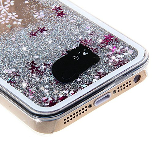iPhone 7 Hülle Transparent,iPhone 7 Hülle Glitzer,iPhone 7 Case Slim,Schutzhülle Für iPhone 7 Hülle Transparent Hardcase,EMAXELERS 3D Kreative Liquid Bling Kristall Glitzer Hülle Case Für iPhone 7,iPh I Animal 6