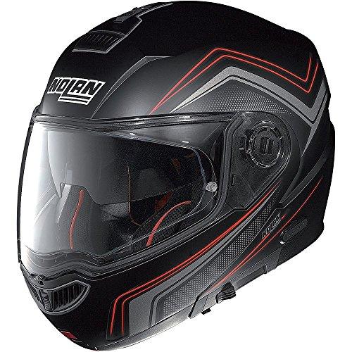 nolan-n104-absolute-como-n-com-flip-up-motorcycle-helmet-matt-black-red