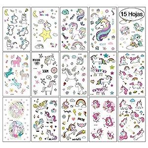 VEGCOO 15 Hojas Tatuajes Temporales