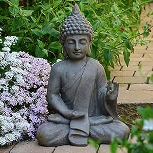 bouddha statuette chinois 54cm d coration zen pour int rieur ext rieur jardin zen feng shui. Black Bedroom Furniture Sets. Home Design Ideas