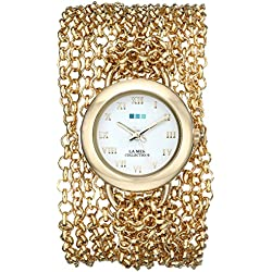 La Mer Collections Damen LMACWSAT004 Analog Display Japanese Quartz Gold Armbanduhr