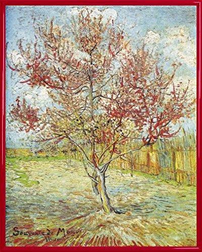 Vincent Van Gogh Póster Impresión Artística con Marco (Plástico) - El Melocotonero En Flor, Recuerdo De Mauve, 1888 (50 x 40cm)