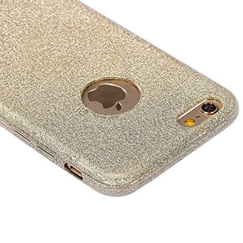 Glitzer Hülle für iPhone 6S,iPhone 6 Hülle,iPhone 6 Hülle Transparent Crystal Bling Glitzer Flüssig Case Hülle Klare Ultradünne Plastik Gel Schutzhülle für iPhone 6S / 6 4.7 Zoll,EMAXELERS iPhone 6S H A TPU 16