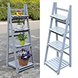4 Tier Grey or White Finish Ladder Style Free Standing Display Rack Book Shelf \ Furniture Home House Cabinet Desk Shelf Stand Dresser Seat Dining Living Room Chairs Table Contemporary Stylish Unique Ottoman Stuff Parents Kids Outdoor Indoor Sleeping Beside Office Hotel Entrance Decorative Special Large Big Small Durable Quality Couch Bedroom Modern Kitchen Gadgets Wood Solid