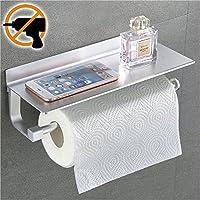Wangel Kitchen Roll Dispensers Paper Towel Holder 33cm, Patented Glue + Self-Adhesive, Aluminum