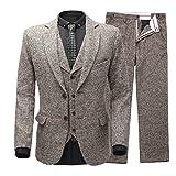 Lilis® Männer Slim Fit zwei Tasten samt Blazer Hose Smoking Abendessen Anzug