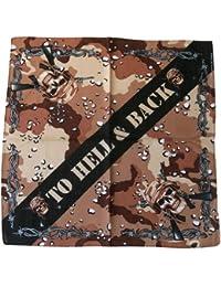 Bandana Tete De Mort Camouflage Marron Paintball Airsoft Us Army