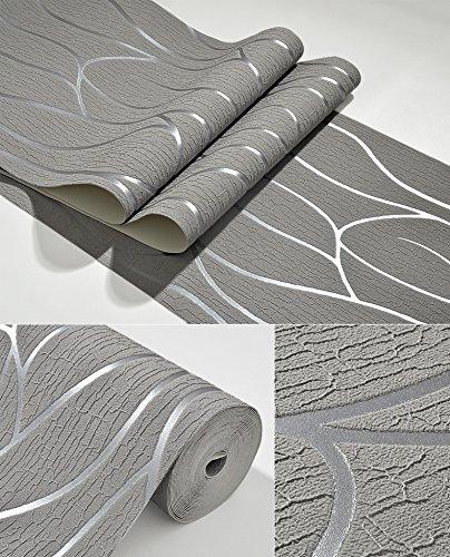 Vliestapete moderne Tapete TV Kulisse minimalistischen Wohnzimmer Mode dicken Wildleder Fransen ( Color : Gray ) (Baseball-kulissen)