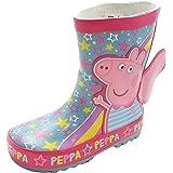 Peppa Pig Botas de agua de goma gruesa en turquesa y rosa