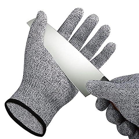 Igemy une paire Cut résistant aux Gants de qualité alimentaire protection de niveau 5travail de coupe M noir