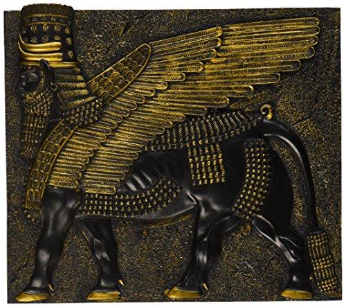 Design Toscano Assyrischer geflügelter Stier, Wandfigur