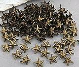 Easy utilizar 100 pcs 11 mm color estrellas decorativas con tachuelas remaches bronce soluble moda
