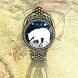 Polar Bär Lesezeichen Antik Filigran Metall im Clip-Stil