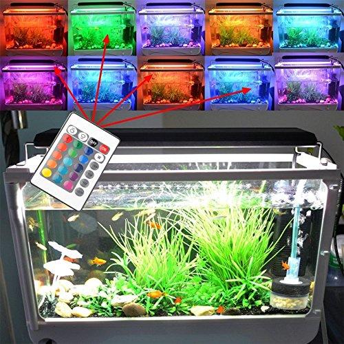 BIOENGIE HI-Lumen RGB Dimmbar 24KEY Fernbedienung 96cm 150SMD 15W für (99-110cm) Aquarium Süßwasser Meerwasser Beleuchtung