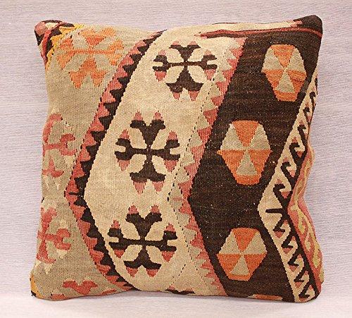 ETFA Kelim Kissen Kissenbezug Kissenhülle cushion cover pillow 40x40 cm 3237