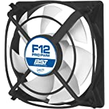 ARCTIC F12 PRO PWM PST - 120mm Fluid Dynamic Bearing Low Noise PWM Controlled Case Fan with PWM Sharing Technology (PST) Feature & Anti-Vibration System, Fan Speed: 500-1500 RPM
