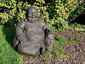 grande statue de moine rieur budai 63 cm bouddha. Black Bedroom Furniture Sets. Home Design Ideas