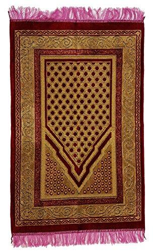 Türkischer Gebetsteppich 110 x 68cm Seccade Namazlik Sajada Sedschade (bordeaux pink) (Gramm-türkisch)