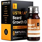 Ustraa Beard Growth Oil - 35ml - More Beard Growth, With Redensyl, 8 Natural Oils including Jojoba Oil, Vitamin E, Nourishmen