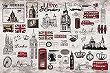 Sproud Murale Retrò Londra Europeo Di Dipinti Murali Di Grandi Dimensioni Del Televisore A Parete Di Impostazione Tempo Libero Bar Caffè Hall 3D Wallpaper 300Cmx210Cm