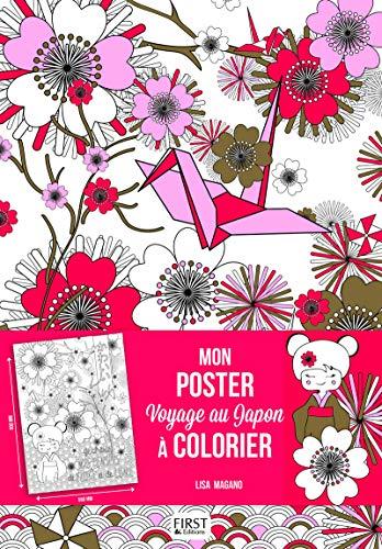 Mon poster Voyage au Japon à colorier