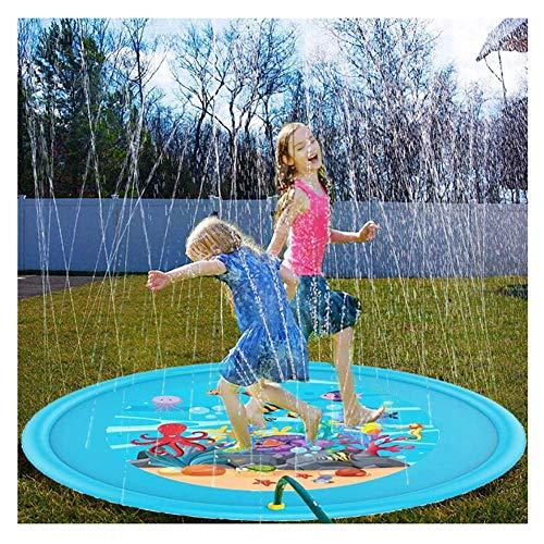 XIONGDA Kinder-Sprinklerpool Aufblasbares Spritzspiel im Freien, 170 cm, Sommergarten-Spray, Wasserspielzeug, Spaß für Kinder, Familienaktivitäten