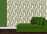 helle, elegante Garten Tapete: Die Apfelkirsche mit Vögeln, Blüten und Kirschen - Klassische Wanddeko - GMM Design Tapete - Wandtapete - Wand Dekoration für edle Wohnakzente (um Wände halb hoch zu tapezieren H: 1,5m B: 46.5cm)