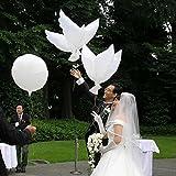 bonytain 100105* 52cm Tauben Peace Dove Ballons Folie Helium GLOBOS Bälle für Hochzeit Party Dekoration