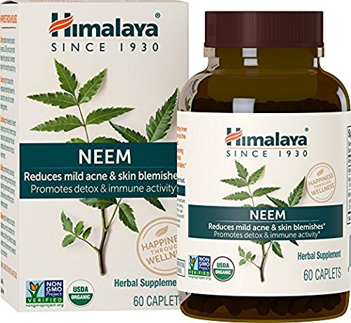 Systemischer Reiniger und Blutentzung - Unterstützt die natürliche Reinigung des Körpers - Reinigt Toxine und fördert eine gesunde Haut - Organische Neemkapseln - USDA - 60 Stück