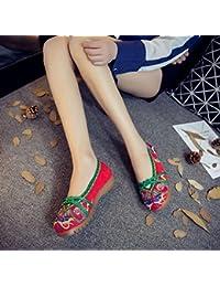 DESY Chaussures brodées, semelle tendineuse, style ethnique, chaussures en tissu féminin, mode, confortable, décontracté