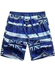Men's Quick de séchage Swim Trunks été plage élastique taille Casual Swim Sports Wear, pantalon de plage homme