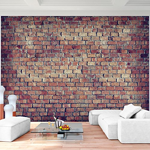 Fototapete Ziegelmauer 3D Braun 396 X 280 Cm Vlies Wand Tapete Wohnzimmer  Schlafzimmer Büro Flur Dekoration Wandbilder XXL Moderne Wanddeko 100% MADE  IN ...