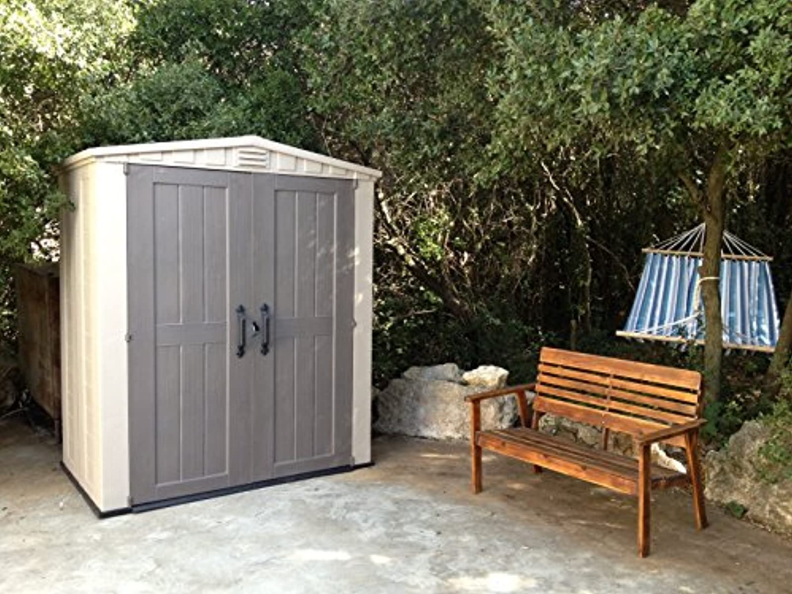 storage outdoor sheds metal ip shed outsunny garden