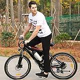 Elektrofahrrad Mountainbike mit 26 Zoll, E-Bike Pedelec mit Abnehmbaren Lithium-Akku (250W 36V) und Smart Ladegerät Schwarz (26'' schwarz)