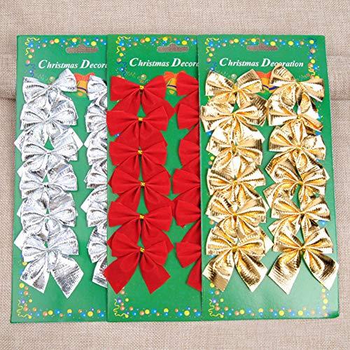 GRANDLIN Weihnachtsschleifen, Festival-Schleife, Weihnachtsbaum-Ornament, Weihnachts-Mini-Schleife, Feiertagsfeiern, Kränze, hängende Dekoration, 180 Stück