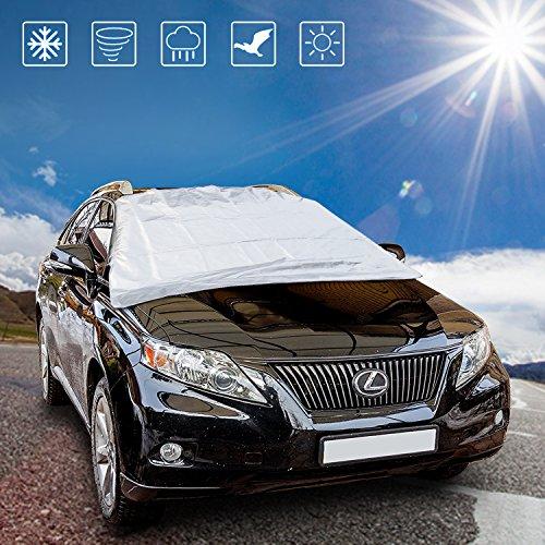 Mture Auto Frontscheibe, Auto Sonnenschutz Auto Sonnenblende Sommer Sonnenschutz UV-Schutz Abdeckung Halten Autos kühler im Heißen Sommer - 160*118cm