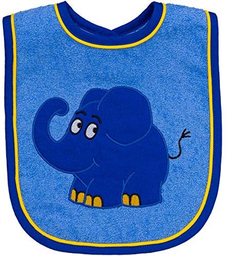 Smithy Fashion 1505043Babero elefante, 24x 24cm, color azul
