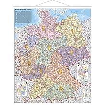 Deutschland Postleitzahlenkarte