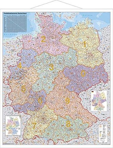 Deutschland Postleitzahlenkarte Deutschland Reise-karte