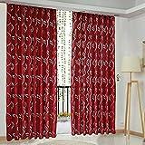 Amazingdeal365 Schal Vorhang Flugfensterdeko Voile Gardinen Schal 2m *1 m Set für Tür Schlafzimmer Wohnzimmer Kinderzimmer Balkon Terasse Spielzimmer (Wein Rot)