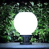 LED Solarleuchte Solarbetriebene Gartenleuchte Energie sparende Solarlampe Warmweiß Weiß Wasserdicht Außenleuchte Bodeneinbauleuchte für Outdoor Garten (Weiß)